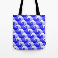 surf Tote Bags featuring Surf by Harvey Warwick