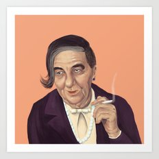 The Israeli Hipster leaders - Golda Meir Art Print