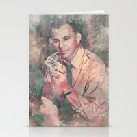 frank sinatra Stationery Cards featuring Frank Sinatra by Nechifor Ionut