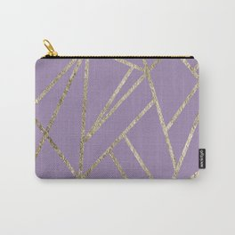 Classic Lavender Gold Geo #1 #geometric #decor #art #society6 Carry-All Pouch