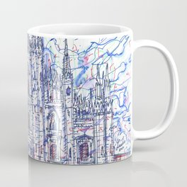 MILAN CATHEDRAL - DUOMO watercolor and ink painting Coffee Mug
