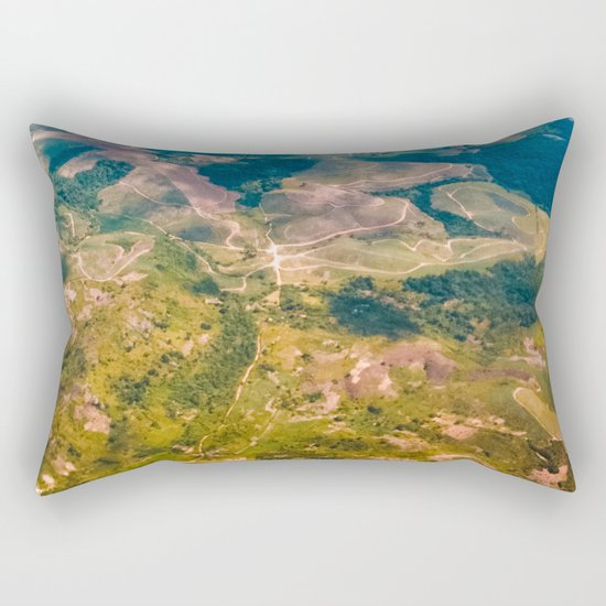 Land from the sky Rectangular Pillow