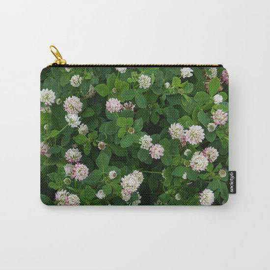 Clover flowers green and white floral field by designs_by_pauline