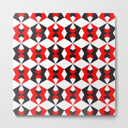 Geometric Pattern #115 (red hexagon) Metal Print