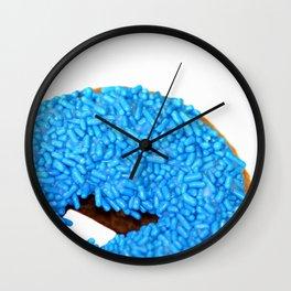 Blue Doughnut Wall Clock