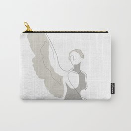 Cream Wings Carry-All Pouch