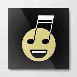 Musical smiley Metal Print