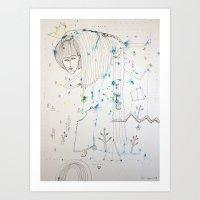 fairy tale Art Prints featuring Fairy Tale by KSKS