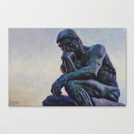 El pensador de Rodin Canvas Print