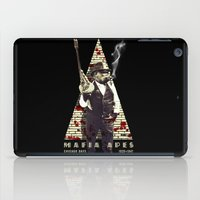 planet of the apes iPad Cases featuring Mafia apes by PRIMATE
