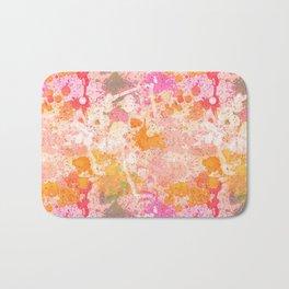 Abstract Paint Splatters Pink & Orange Bath Mat