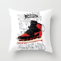 verse Throw Pillows featuring SOLE Search verse 1 by martymar54