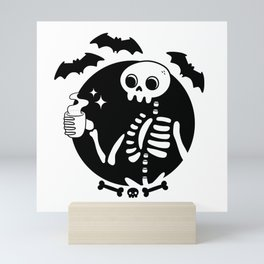 Death Before Decaf Mini Art Print