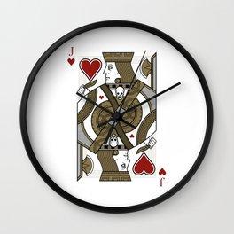 Omnia Oscura Jack of Hearts Wall Clock