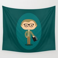 woody Wall Tapestries featuring Woody Allen by Sombras Blancas Art & Design