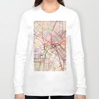 dallas Long Sleeve T-shirts featuring Dallas by MapMapMaps.Watercolors