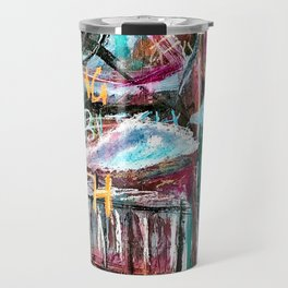 Degrees of Separation - Neo Expressionism painting Travel Mug