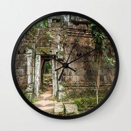 Angkor Thom Palace Wall, Siem Reap, Cambodia Wall Clock