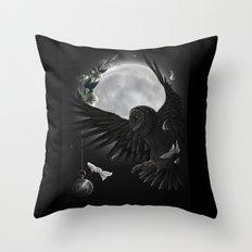 solar owls moon  Throw Pillow