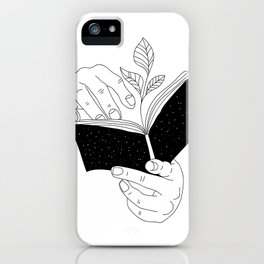 when you read inside the germinate flowers iPhone Case