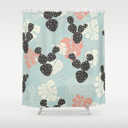 Tropical pattern 052 Shower Curtain