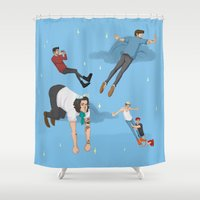 neverland Shower Curtains featuring Off To Neverland by Ashley R. Guillory
