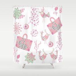 Travel pattern 2 Shower Curtain