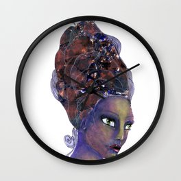 Feather in her Hair Wall Clock