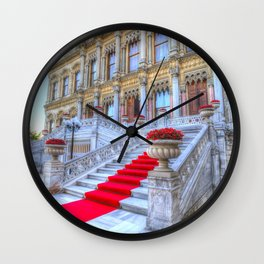 Ciragan Palace Istanbul Red Carpet Wall Clock