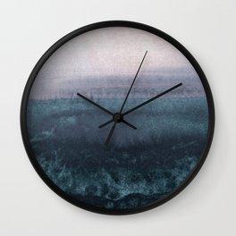 minimalist atmospheric landscape 1 Wall Clock