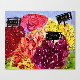 Flower Stall Canvas Print