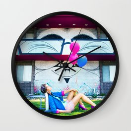 Deflated  Wall Clock