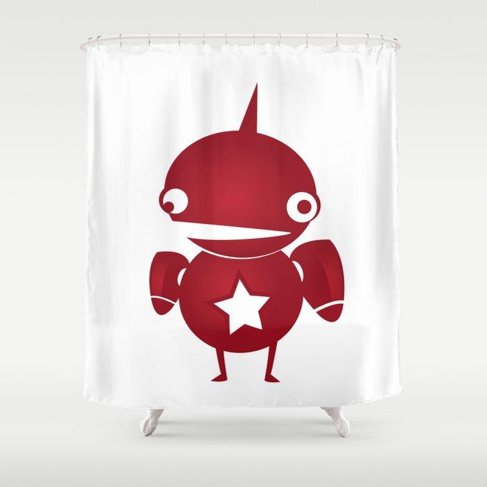 minima - slowbot 002 Shower Curtain