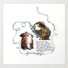 Guinea Pig Logic Art Print