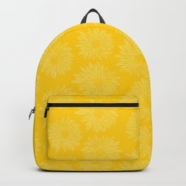 Gerbera Flowers Yellow Backpack