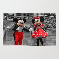 minnie Area & Throw Rugs featuring Mickey and Minnie by Melyssa Fatig