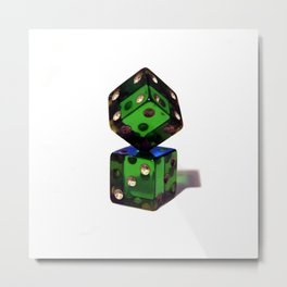 Rigged dices Metal Print