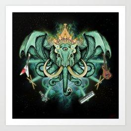 Elephant Ghost Art Print