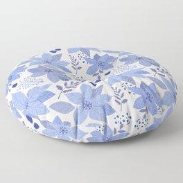 Serene Poinsettia Floor Pillow