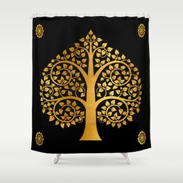 Bodhi Tree0110 Shower Curtain