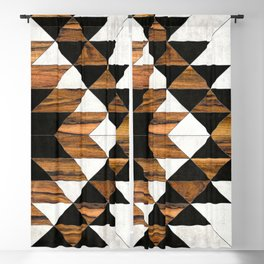 Urban Tribal Pattern No.9 - Aztec - Concrete and Wood Blackout Curtain