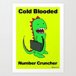 Business Lizard Art Print