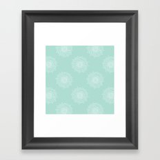 Seaglass Chrysanthemum Framed Art Print