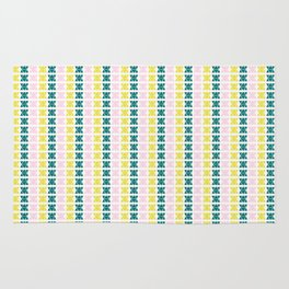 Hand Drawn Triangle Patterns Stripes Rug