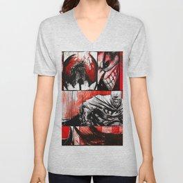 Black, White, & Blood Unisex V-Neck