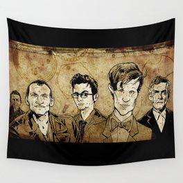 Doctor Who - Nine, Ten, Eleven, Twelve, and Thirteen Wall Tapestry
