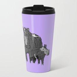 Newspaper Rhinoceros Travel Mug