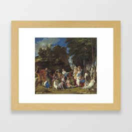 Giovanni Bellini and Titian The Feast of the Gods 1514 1529 Painting Framed Art Print