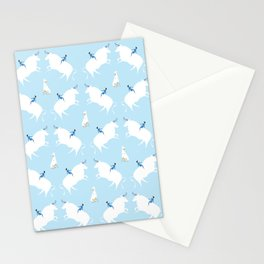 The Boy, the bull and the dog, blue Stationery Cards