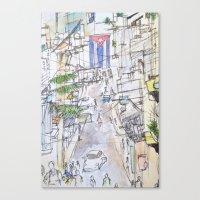 cuba Canvas Prints featuring Cuba by Leah Vaughn